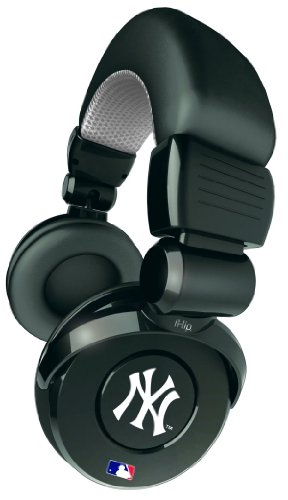 Ihip Official Mlb - New York Yankees - Noise Isolation Pro Dj Quality Headphone With Detachable Cord And Built-In Microphone With Volume Control Mlh26Nyy