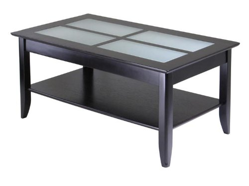 Syrah Coffee Table With Frosted Glass By Winsome Wood