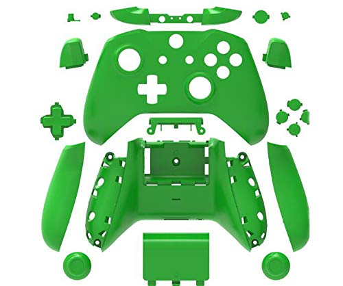 Canamite Replacement Parts Full Housing Shell Protective Case Cover Button Kit for Xbox ONE Slim Controller (Green) (Color: Green)
