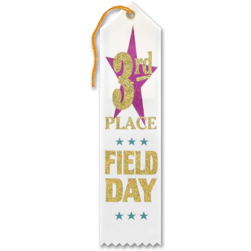 "3rd Place Field Day Award Ribbon 2"" x 8"" Party Accessory"