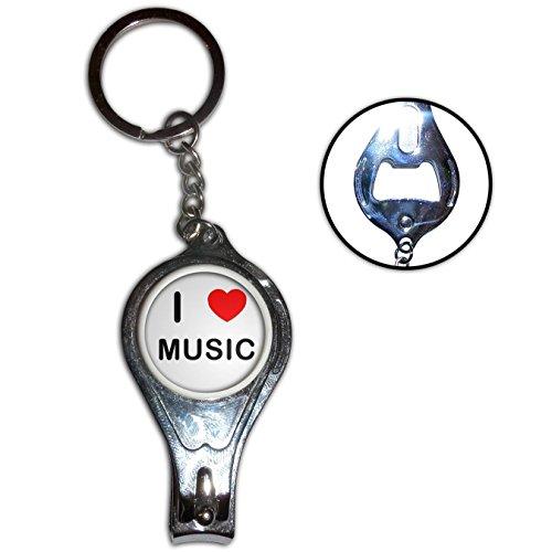 I Love Heart Music - Nail clipper apribottiglie anello chiave del metallo