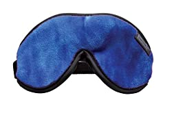 Dream Essentials Escape Luxury Travel and Sleep Mask with Earplugs and Carry Pouch, Blueberry