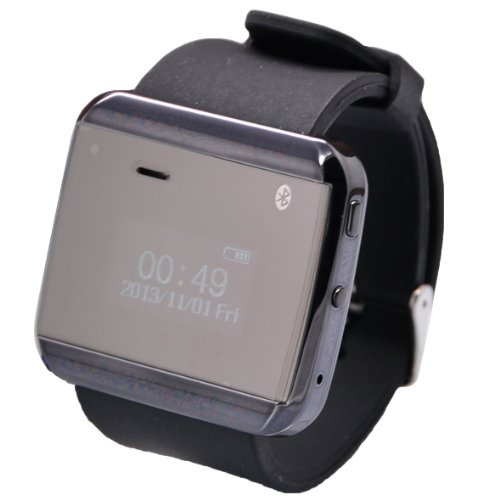 Vwtech Wristwatch Smartwatch Smart Bluetooth Watch Sync Anti-Lost Alarm For Android Smartphone Iphone Samsung (Black)