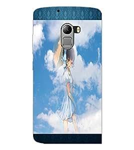PrintDhaba Lovely Girl D-2493 Back Case Cover for LENOVO VIBE X3 LITE (Multi-Coloured)
