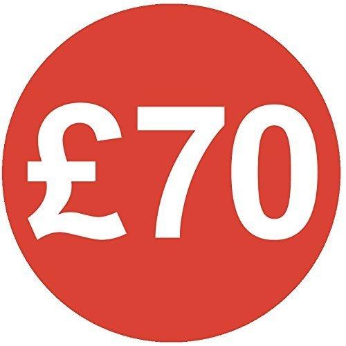 Audioprint Lot de 500Autocollants Prix £7030mm rouge