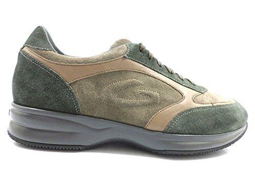 scarpe uomo ALBERTO GUARDIANI 45 sneakers verde / marrone chiaro ZX765