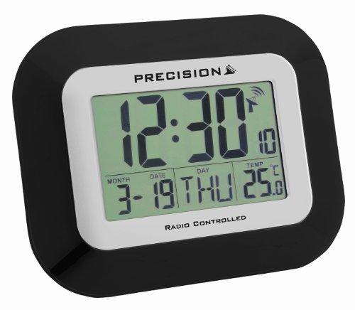 R veil horloge precision murale bureau radiocommand lcd - Horloge digitale murale a pile ...
