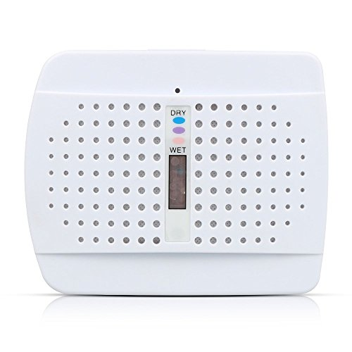 Mini Dehumidifier, Topist Wireless Dehumidifier Renewable Low Energy Consumption Moisture Absorber Whisper Air Dryer for Closets, Safes, Security Cabinets, Kitchen Sink, Boats, RVs, Bathrooms (Gun Safe Dehumidifier Battery compare prices)