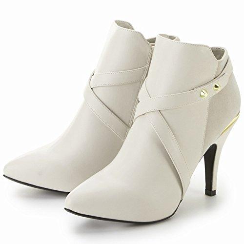 Amazon.co.jp: ジャスグリッティー(JUSGLITTY) 『AneCan11月号掲載商品』ブーツ(クロスベルテッドショートブーツ)【15オフシロ/24.0】: 服&ファッション小物