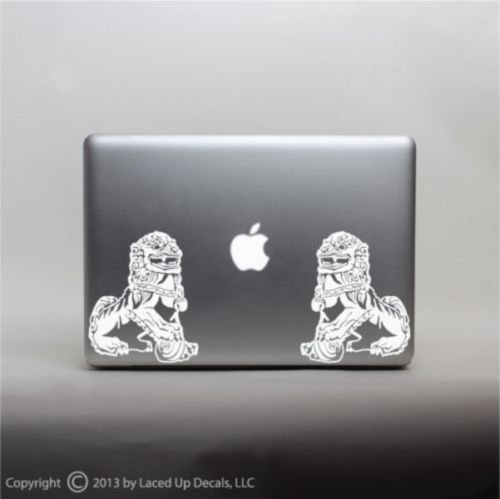 Chinese Guardian Lions Vinyl Decal Small