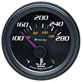 Equus 6262 Water Temperature Gauge - Black