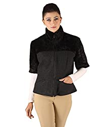 Owncraft Women's Woolen Jacket (Own_27_Grey_X-Small)