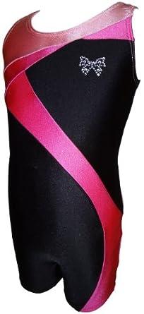 Buy Talent Tale Girls Black Tank Ribbon Unitard Biketard Size XS 4 5 - S 6 6X - M 7 8 - L 10 12 by TALENT TALE