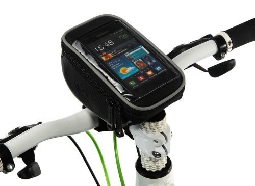 "Roswheel Bicycle Handlebar Bag Front Tube Bar Basket Frame Pannier For 5.5"" Touch Screen Cell Iphone Htc Samsung front-33033"