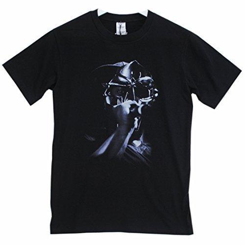 Actual Fact MF DOOM Microfono Cromo Hip Hop T-shirt Nera Girocollo - Nero, X-Large