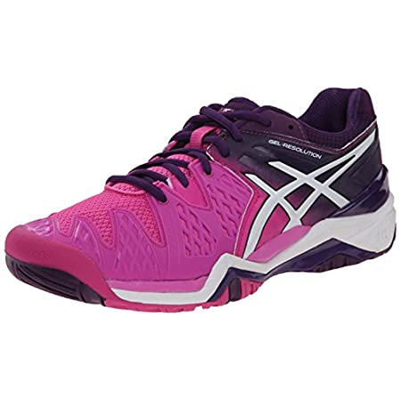 The most popular style in the ASICS stability tennis line gets an update in the ASICS GEL-Resolution 6 shoe. Emphasizing midfoot support and stability, this women's athletic shoe is packed with performance features to keep you at the top of your game...