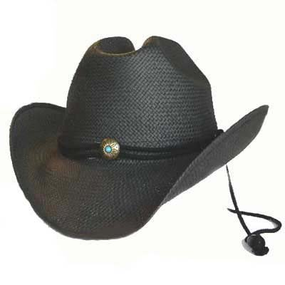 BLACK RAFFIA SHAPEABLE TOYO ROCKER COWBOY HAT - Buy BLACK RAFFIA SHAPEABLE TOYO ROCKER COWBOY HAT - Purchase BLACK RAFFIA SHAPEABLE TOYO ROCKER COWBOY HAT (Luxury Divas, Luxury Divas Hats, Womens Luxury Divas Hats, Apparel, Departments, Accessories, Women's Accessories, Hats)