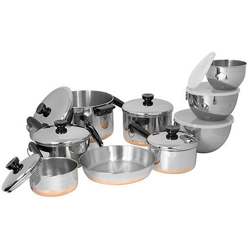 Buy Revere Copper Clad Bottom 14 piece set, Stainless Steel