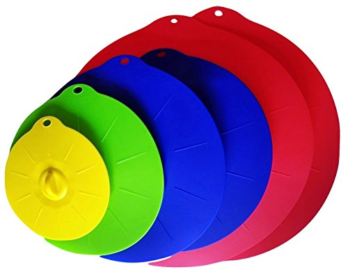 YumYum Silicone Lids Set of 6, Best Suction Lid Covers Keep Your Food Moist & Guard Against Microwave and Cooking Splatter, Replace Plastic Wrap & Screen Your Food in Cup, Bowl, Mug or Pan (Pot Leaf Cake Pan compare prices)