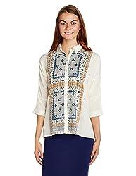 People Women's Button Down Shirt (P10202162264167_Off-White_Medium)