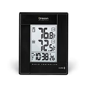 Wireless Indoor/Outdoor Thermometer w/ Self Setting Clock