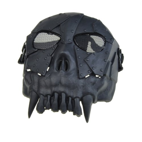 Black Skull Skeleton Army Airsoft Paintball BB Gun Full Face Game Protect Mask