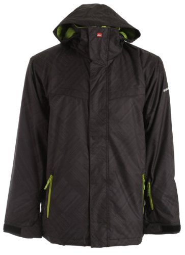 B00598PIB4 Quiksilver Last Mission Prints Insulated Ski Snowboard Jacket Black MagazineSz S