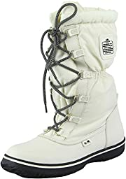 Coach Women\'s Sage Lace-Up Cold Weather Boots, Chalk, Size 8.5