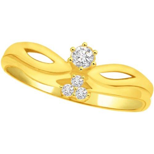 Surat Diamonds Surat Diamond 18K Yellow Diamond Ring