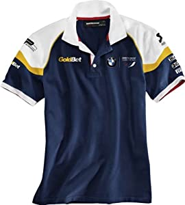 Bmw Genuine Motorcycle Motorrad Motorsport Mens Polo Shirt - Color Blue White Yellow - Size Xl from BMW