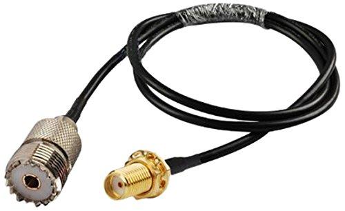 MPD Digital smaF/pl259f SMA Female to UHF SO239 PL259 Female RG58 Adapter Cable, 3-feet