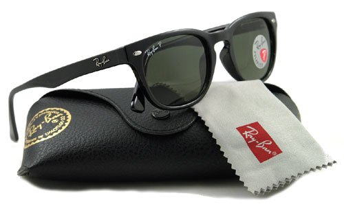 RAY BAN Authentic 2132 black crystal green polarized 90158 ,Designer Sunglasses