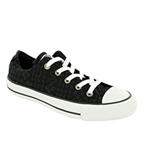 CONVERSE Women's All Star Eyelet Ox (Black 7.5 M)