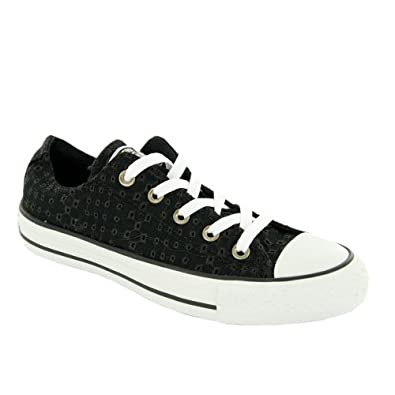 Converse All Star Ox Trainers Black 3 UK