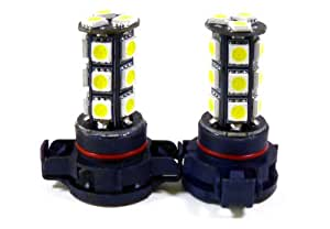 9009 H16 5202 LED Fog Light Replacement Bulbs White (Pack of 2)