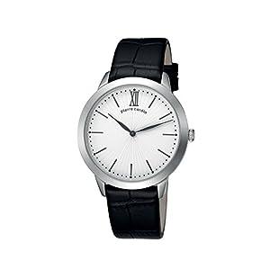 Pierre Cardin pc105311f01 Stainless Steel Case Black Calfskin Mineral Men's & Women's Watch