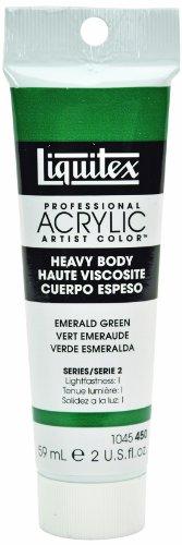 Liquitex Professional Heavy Body Acrylic Paint 2-Oz Tube, Emerald Green
