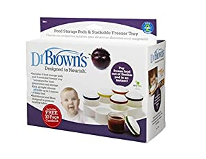 Dr. Brown's Designed To Nourish Flexpods Storage Jars and Stackable Freezer Trays (Discontinued by Manufacturer)
