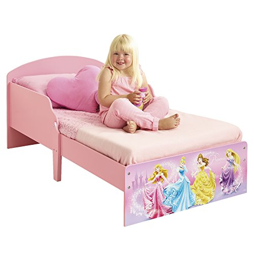 Worlds Apart 865272 Lit Bambin Princesses Disney Bois MDF Rose 142 x 77 x 59 cm