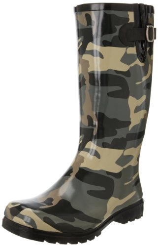 Nomad Women'S Puddles Rain Boot,Black/Olive Camo,8 M Us front-505985