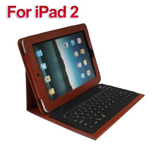 TsirTech Apple iPad 2 Bluetooth Keyboard and Genuine Leather Case Accessory for Apple iPad 3G tablet / Wifi model 16GB, 32GB, 64GB Brown