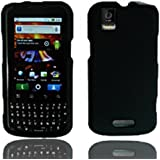 For Sprint Motorola Mb612 Xprt Accessory - Rubber Black Hard Case Proctor Cover +Lf Stylus Pen