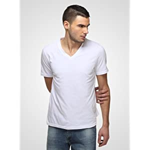 FREECULTR - Core V Neck T-Shirt | Medium | White