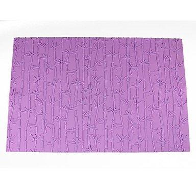 Silicone Bamboo Printing Design Embossing Pad Fondant Imprint Mat59x38cm