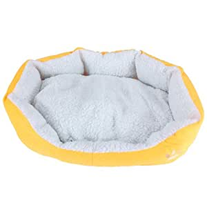 panier corbeille niche coussin matelas lit chien chat animaux 60x55x22cm grand taille jaune. Black Bedroom Furniture Sets. Home Design Ideas
