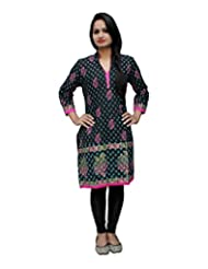 Ethniclook Women's Cotton Self Print Kurti