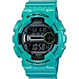 G-Shock Men's Quartz Watch with Black Dial Digital Display and Turquoise Resin Strap GD-110-2ER