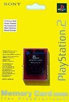 Carte Mémoire rouge 8 Mo pour Playstation 2
