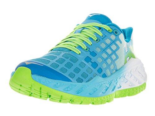 hoka-one-one-womens-w-clayton-bright-green-blue-atoll-running-shoe-8-women-us