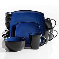 16-Pc.Gibson Home Soho Lounge Dinnerware Set (Blue)